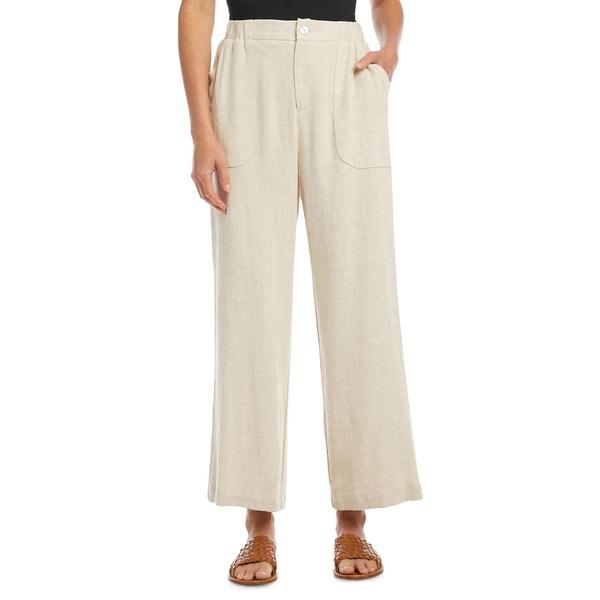 カレンケーン レディース カジュアルパンツ ボトムス Cropped Wide-Leg Pants Natural