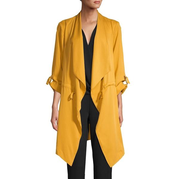 ジョーンズニューヨーク レディース コート アウター Draped Collar Jacket Golden