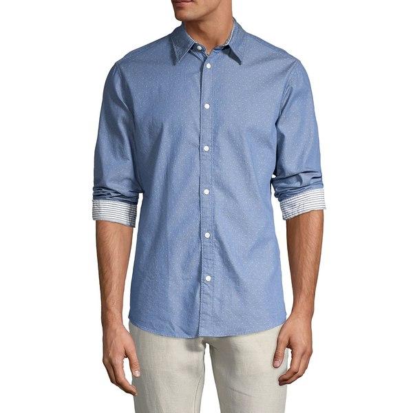 セレクテッドオム メンズ シャツ トップス Harper Slim-Fit Shirt Medium Blue