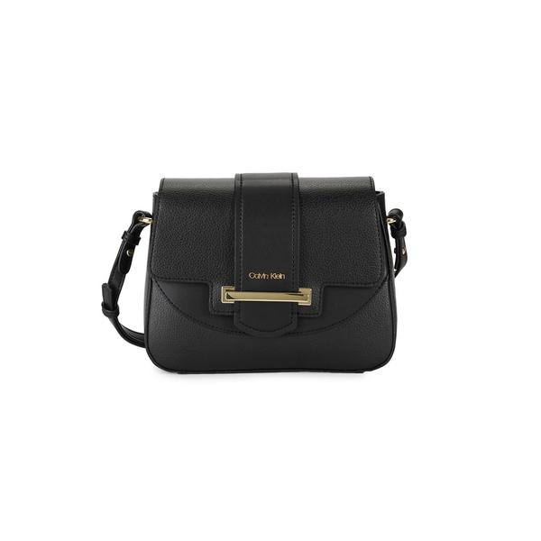 カルバンクライン レディース ハンドバッグ バッグ Amara Faux Leather Crossbody Bag Black Gold