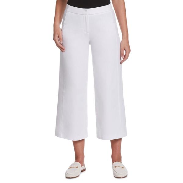 ラファエラ レディース カジュアルパンツ ボトムス Cotton-Blend Wide-Leg Cropped Pants White