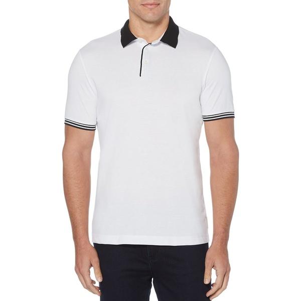 ペリーエリス メンズ シャツ トップス Short Sleeve Polo Shirt Bright White