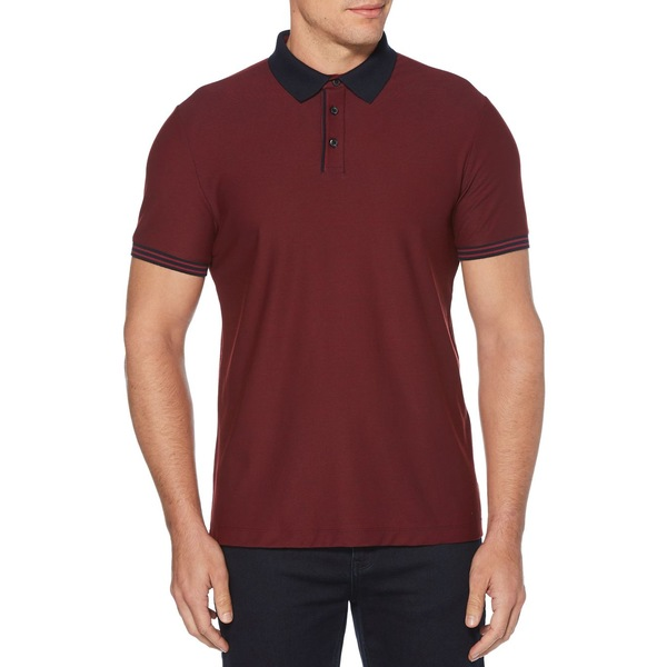 ペリーエリス メンズ シャツ トップス Short Sleeve Polo Shirt Winetasting