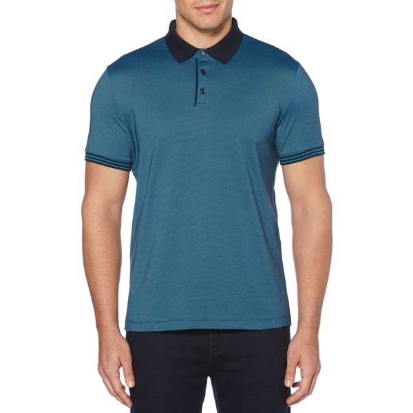 ペリーエリス メンズ シャツ トップス Short Sleeve Polo Shirt Dark Sapphire
