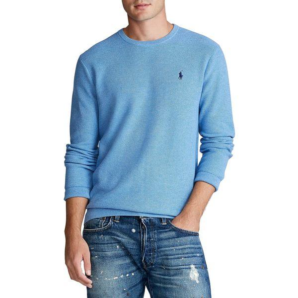 ラルフローレン メンズ ニット&セーター アウター Cotton Crewneck Sweater Blue