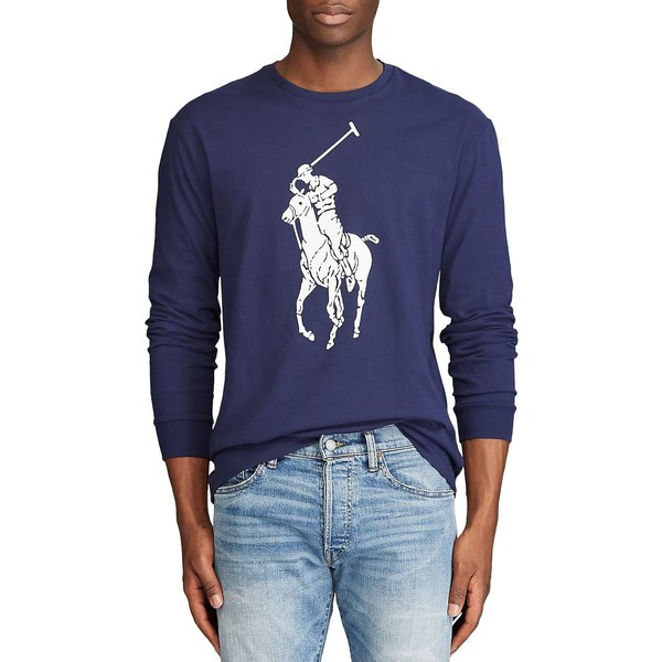 ラルフローレン メンズ シャツ トップス Classic Fit Big Pony Long-Sleeve T-Shirt Navy