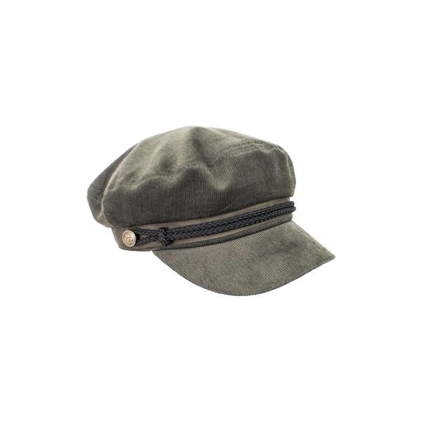 ピーターグリム レディース 帽子 アクセサリー Juni Cotton Corduroy Newsboy Hat Grey