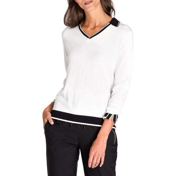 オルセン レディース ニット&セーター アウター New Fusion Cotton-Blend Sweater Off White