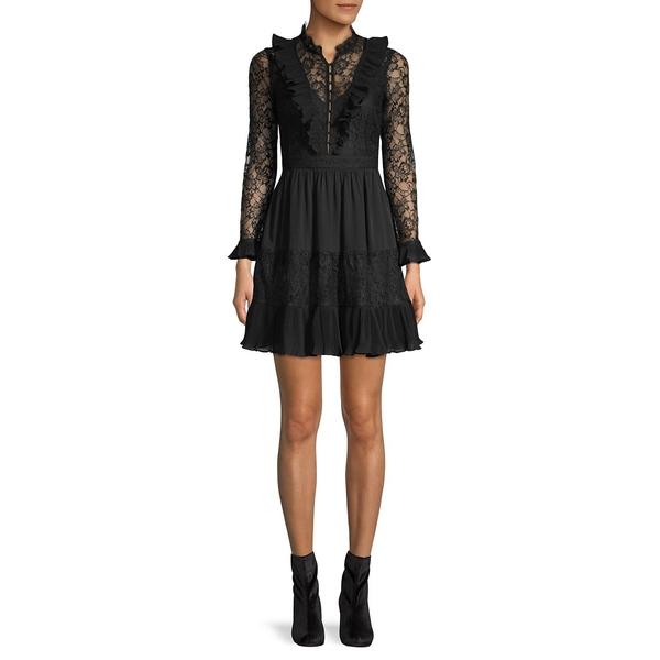 フレンチコネクション レディース ワンピース トップス Clari Floral Lace Mini Dress Black