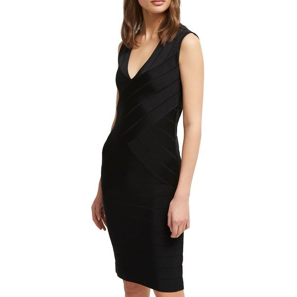 フレンチコネクション レディース ワンピース トップス Zasha Spotlight Mini Sheath Dress Black
