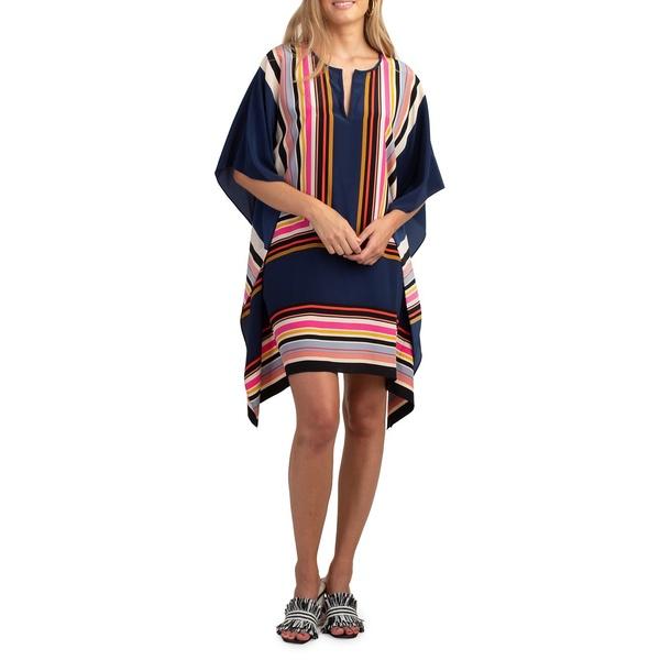 トリーナターク レディース ワンピース トップス Theodora Striped Silk Mini Dress Multi