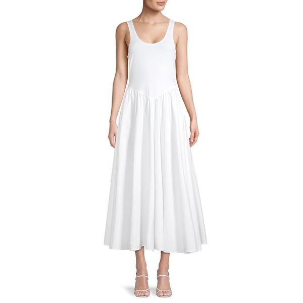 フリーピープル レディース ワンピース トップス Sleeveless Stretch-Cotton Midi Dress Ivory