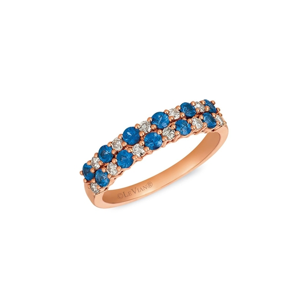 ルヴァン レディース リング アクセサリー Royal Blues 14K Strawberry Gold®, Blueberry Sapphire™ & 0.23 TCW Nude Diamonds™ Ring Rose Gold