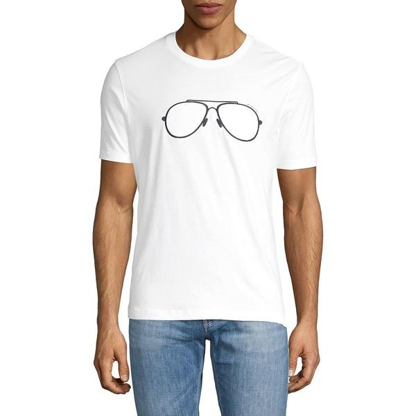 マイケルコース メンズ シャツ トップス Sunglasses Graphic Cotton Tee White