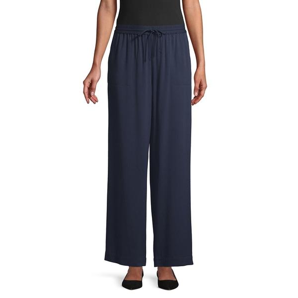 アイザック ミズラヒ レディース カジュアルパンツ ボトムス Drawstring Wide-Leg Pants Classic Navy