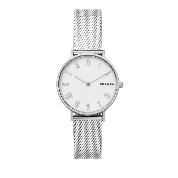 スカーゲン レディース 腕時計 アクセサリー Hald Stainless Steel Silk-Mesh Bracelet Watch Silver