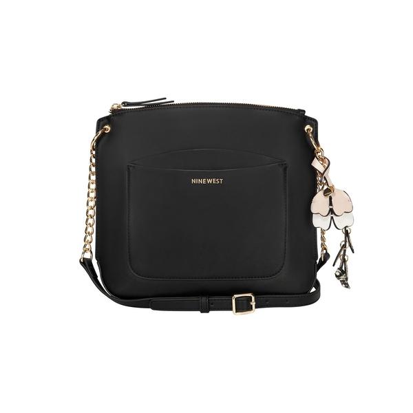 ナインウェスト レディース ショルダーバッグ バッグ Klarybel Swing Faux Leather Crossbody Bag Black