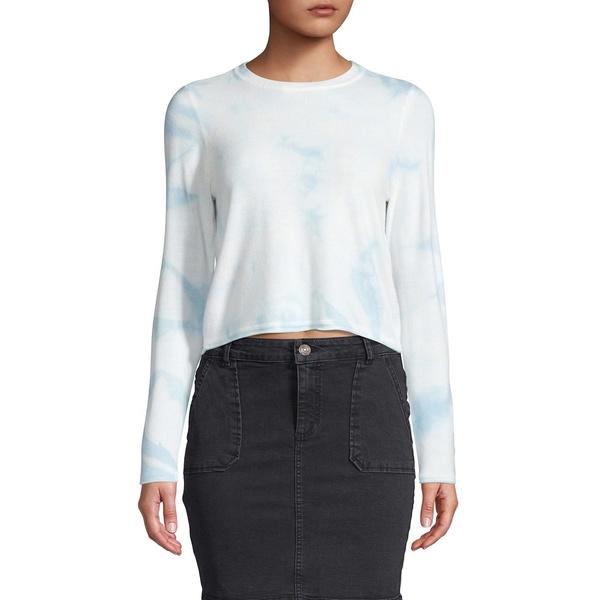 オンリー レディース ニット&セーター アウター Tie-Dyed Cropped Sweater Blue