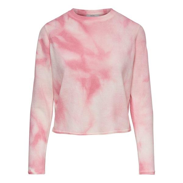 オンリー レディース ニット&セーター アウター Tie-Dyed Cropped Sweater Pink