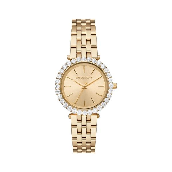 マイケルコース レディース 腕時計 アクセサリー Darci Three-Hand Goldtone Stainless Steel Watch Gold