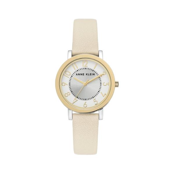 アンクライン レディース 腕時計 アクセサリー Two-Tone & Leather-Strap Watch Gold