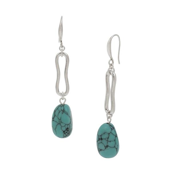 ロバートリーモリス レディース ピアス&イヤリング アクセサリー Silvertone & Turquoise Drop Earrings Turquoise