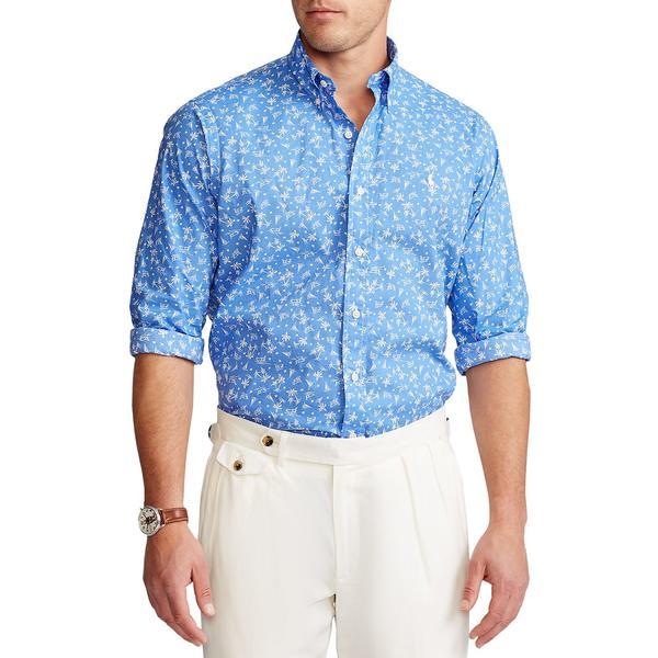 ラルフローレン メンズ シャツ トップス Classic Fit Tropical Shirt Bahama Blue