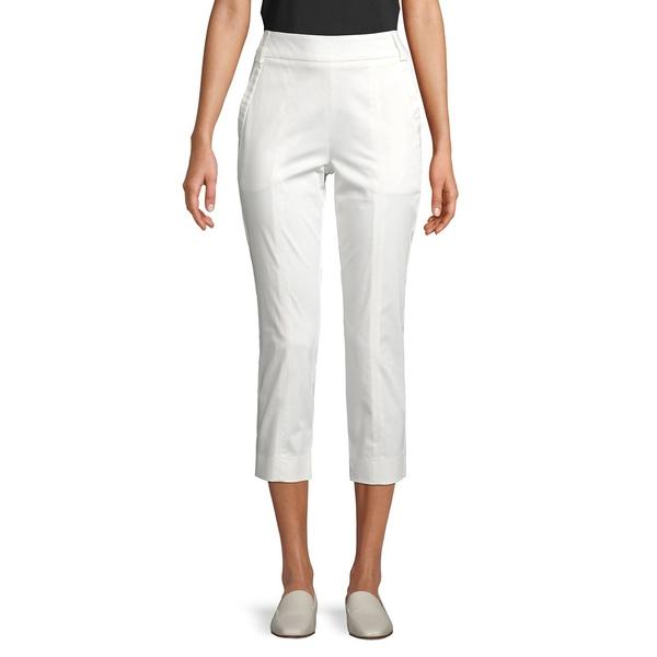 マレーラ レディース カジュアルパンツ ボトムス Stretch-Cotton Cropped Pants White