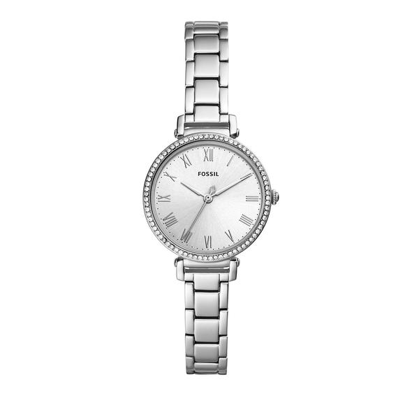 フォッシル レディース 腕時計 アクセサリー Kinsey Three-Hand Stainless Steel Bracelet Watch Silver