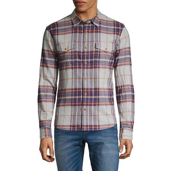 ラッキーブランド メンズ シャツ トップス Redwood Plaid Flannel Workwear Shirt Grey Multi