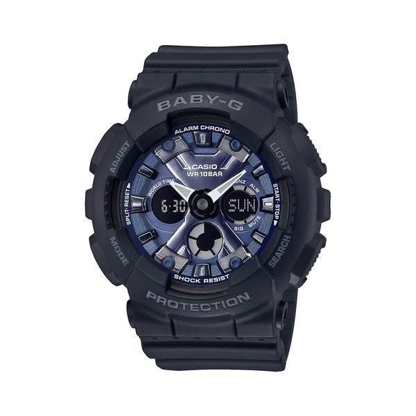 ジーショック レディース 腕時計 アクセサリー Blue Face Analog and Digital Resin Watch Black