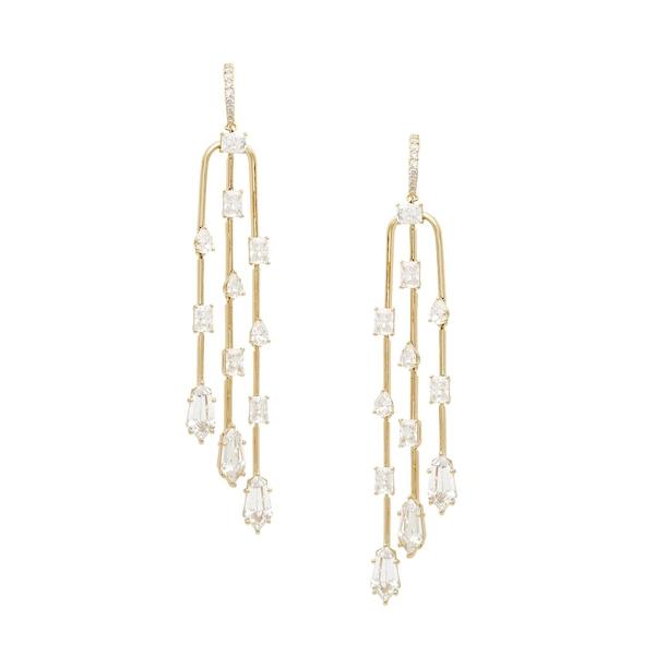 ナディール レディース ピアス&イヤリング アクセサリー 18K Goldplated & Crystal Drop Earrings Gold
