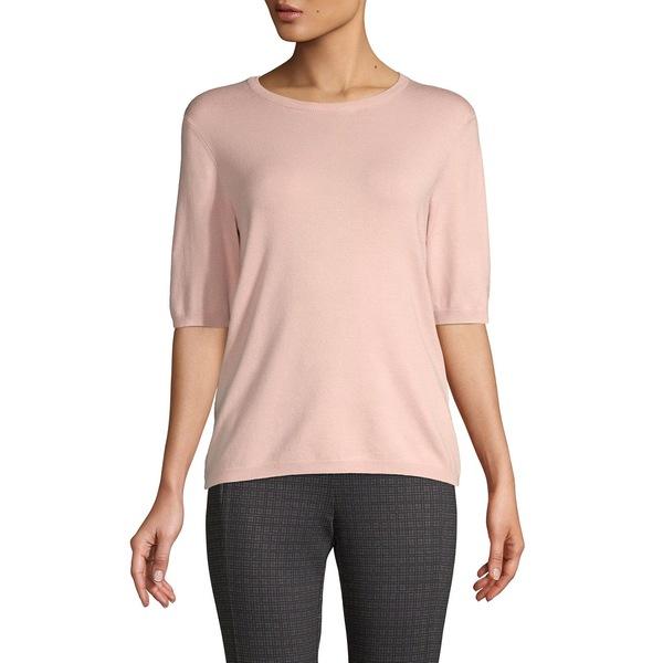 プレミス レディース ニット&セーター アウター Elbow-Sleeve Crewneck Sweater Pale Pink