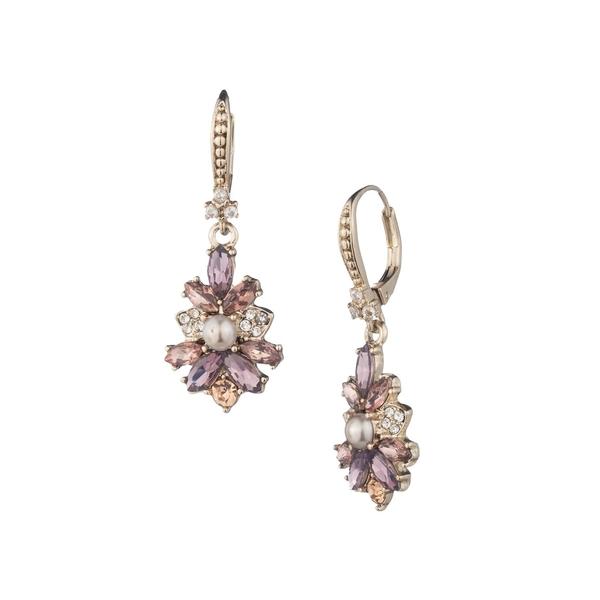 マルケッサ レディース ピアス&イヤリング アクセサリー Goldtone, Faux Pearl and Glass Stone Cluster Drop Earrings Gold
