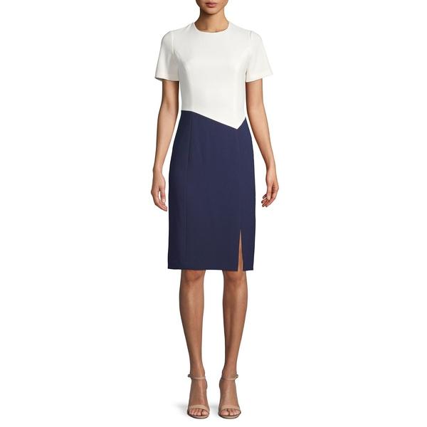 ハーパーローズ レディース ワンピース トップス Short-Sleeve Colorblocked Dress Ivory