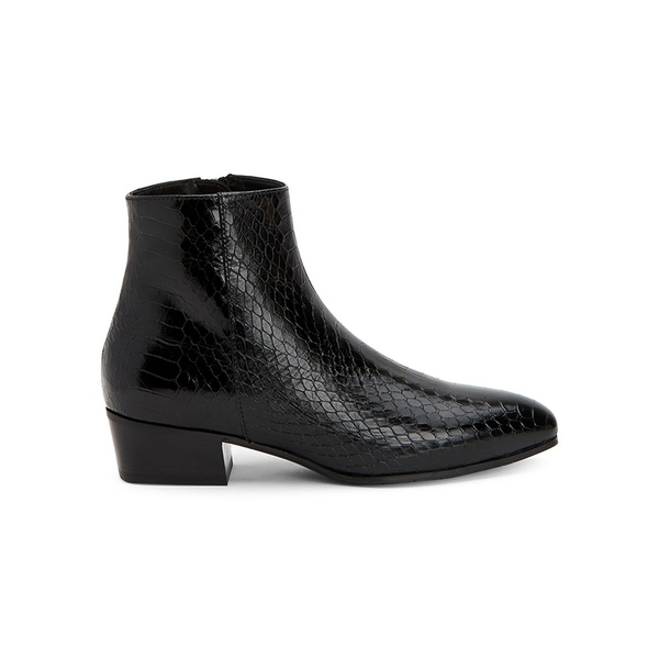 アクアタリア レディース ブーツ&レインブーツ シューズ Fuoco Snake-Printed Leather Booties Black