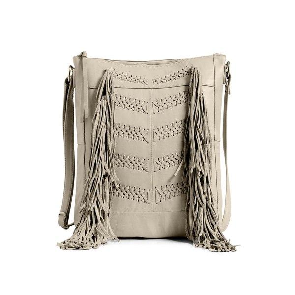 ダイアンドムード レディース ショルダーバッグ バッグ Fenya Leather Hobo Bag Ivory