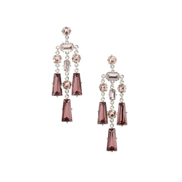 ヴィンスカムート レディース ピアス&イヤリング アクセサリー Silvertone and Crystal Linear Lever Earrings Silver