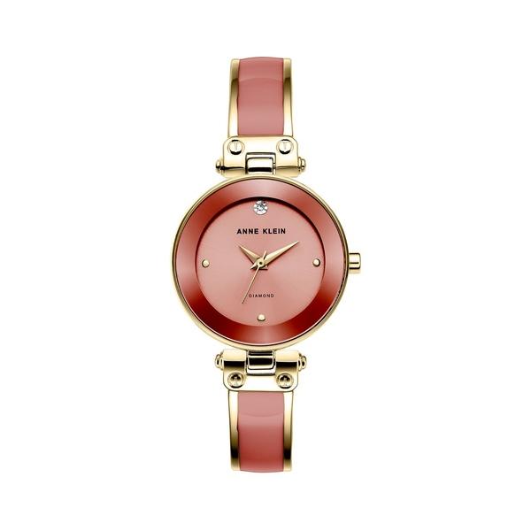 アンクライン レディース 腕時計 アクセサリー Goldtone & Diamond Bangle Bracelet Watch Rust