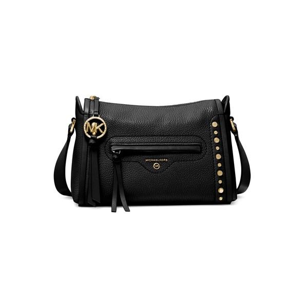 マイケルコース レディース ショルダーバッグ バッグ Carine Leather Shoulder Bag Black