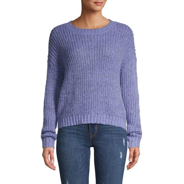 ヴェロモーダ レディース ニット&セーター アウター Ribbed Long-Sleeve Sweater Blue Ice