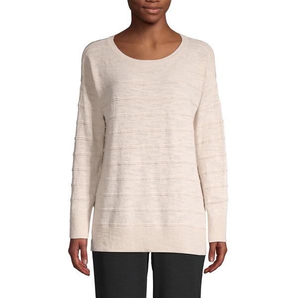 ジョーンズニューヨーク レディース ニット&セーター アウター Striped Ballet Neck Sweater Pebble