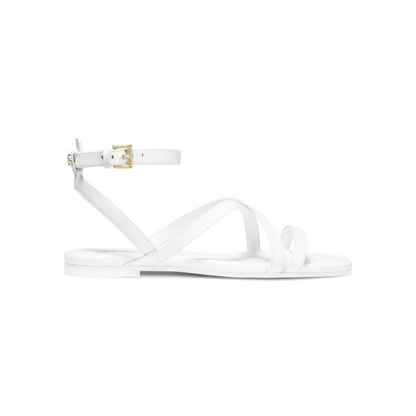 マイケルコース レディース サンダル シューズ Tasha Leather Sandals Optic White