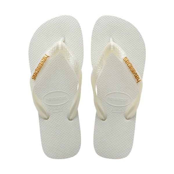 ハワイアナス レディース サンダル シューズ Top Logo Flip Flops White
