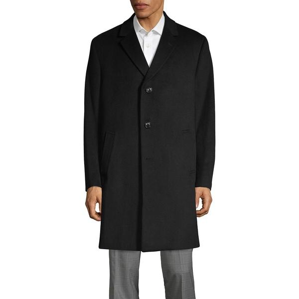 ケネスコール メンズ ジャケット&ブルゾン アウター Wool-Blend Car Coat Black