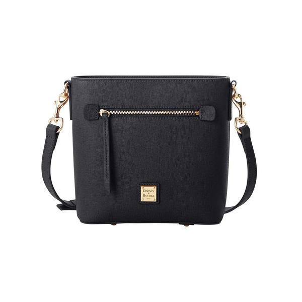 ドーネイアンドバーク レディース ショルダーバッグ バッグ Saffiano Small Leather Crossbody Bag Black