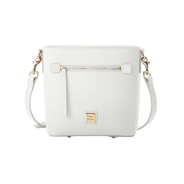 ドーネイアンドバーク レディース ショルダーバッグ バッグ Saffiano Small Leather Crossbody Bag Off White