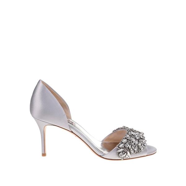 バッジェリーミシュカ レディース パンプス シューズ Hansen Embellished Satin d' Orsay Pumps Silver