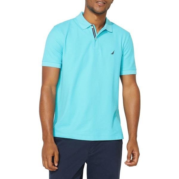 ナウティカ メンズ シャツ トップス Classic-Fit Solid Deck Polo Shirt Mirage Blue