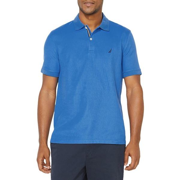 ナウティカ メンズ シャツ トップス Classic-Fit Solid Deck Polo Shirt Spinner Blue